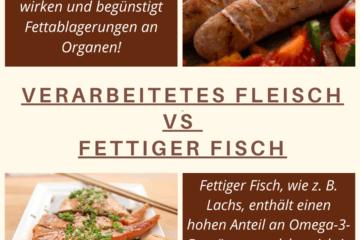 verarbeitetes Fleisch gegen fettiger Fisch - Was ist gesünder?